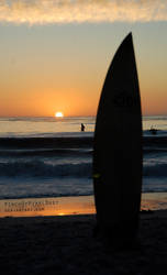 Surf's Up at Sunset