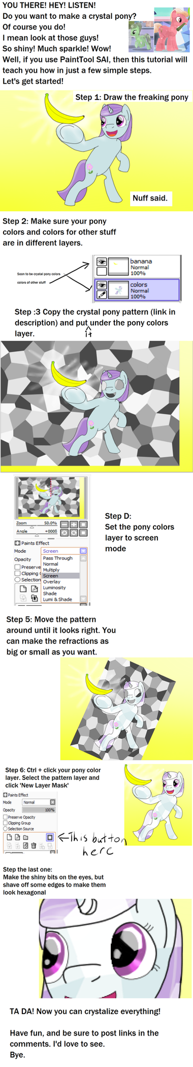 Crystal pony tutorial by Allonsbro