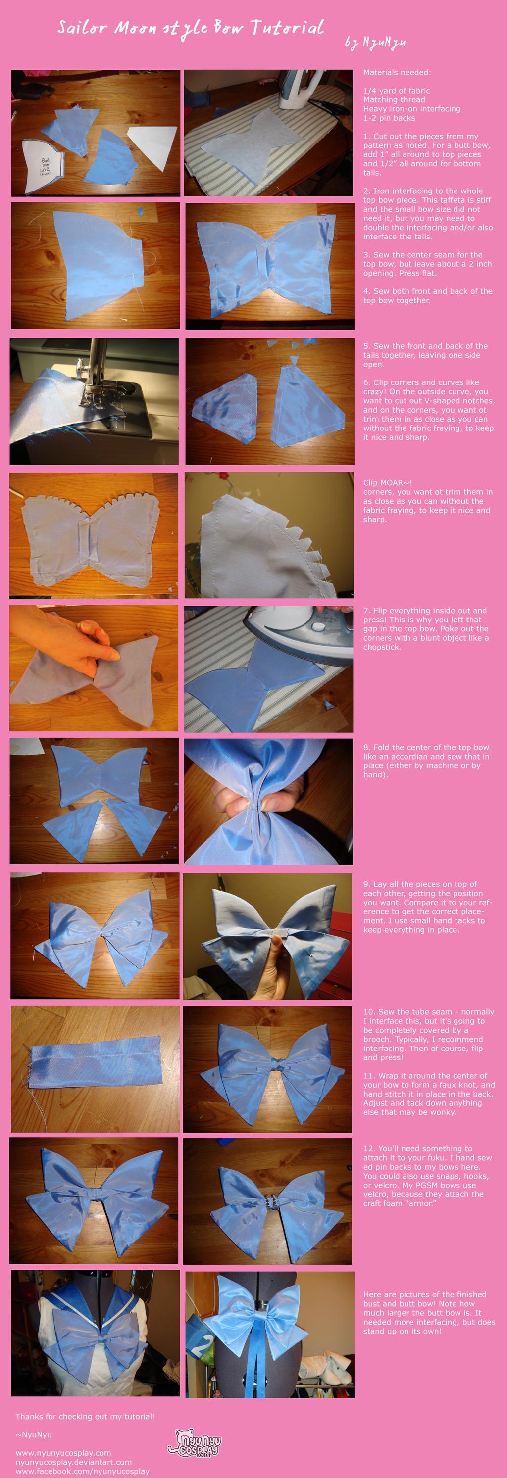 Sailor Moon style bow tutorial
