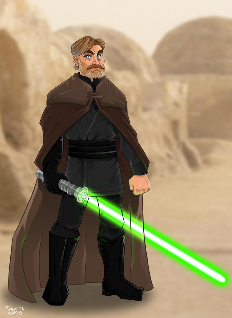 Old Luke Skywalker by tskrening