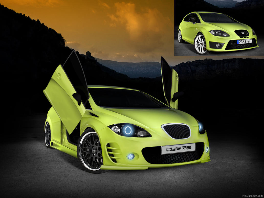 seat leon cupra tuning by maticg on deviantart. Black Bedroom Furniture Sets. Home Design Ideas