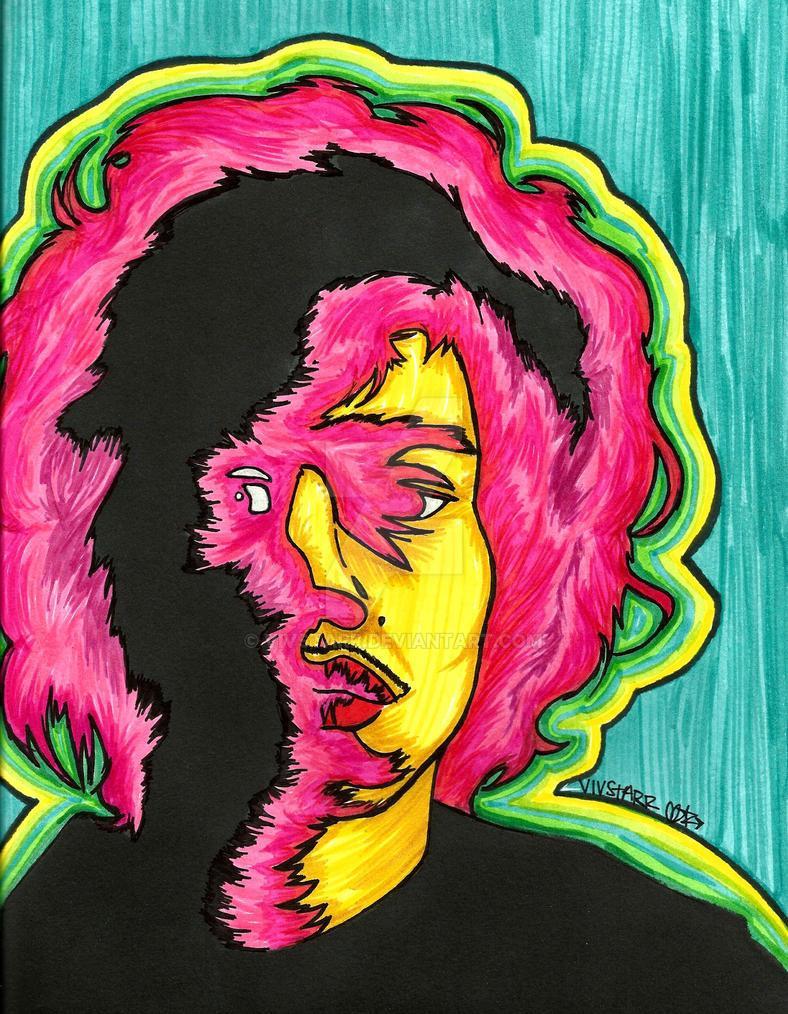 Jimi Hendrix by VivStarr