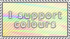 I Support Colours Stamp by jojogape
