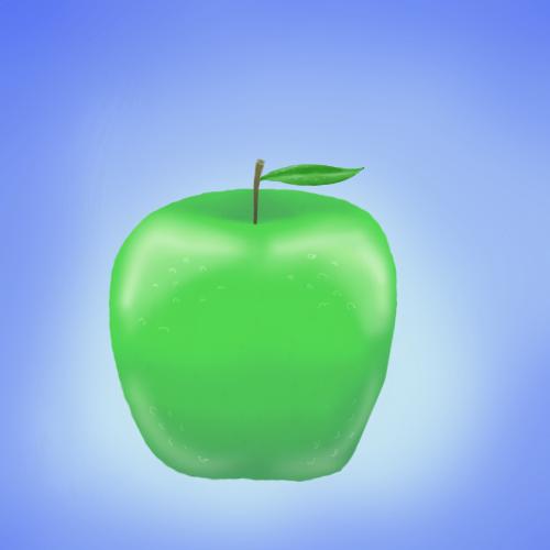 An apple by jojogape