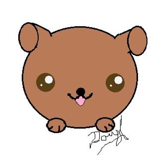 Kawaii Puppy by Daryl-the-cartoonist