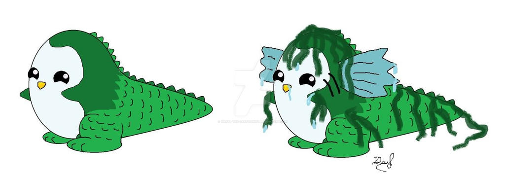 Penguana as a Sea Monster by Daryl-the-cartoonist
