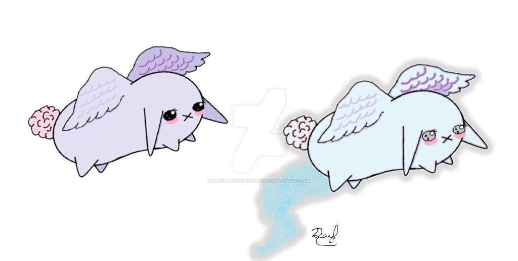 Rabbird as a Ghost by Daryl-the-cartoonist