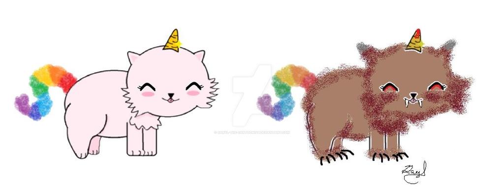 Unicat as a Werecat by Daryl-the-cartoonist