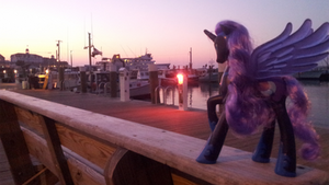Nightmare Moon On Old Harbor