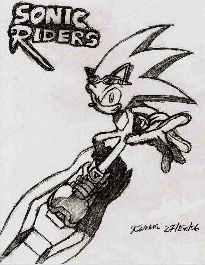 Pin Sonic Rider Colouring Pages On Pinterest Sonic Riders Coloring Pages
