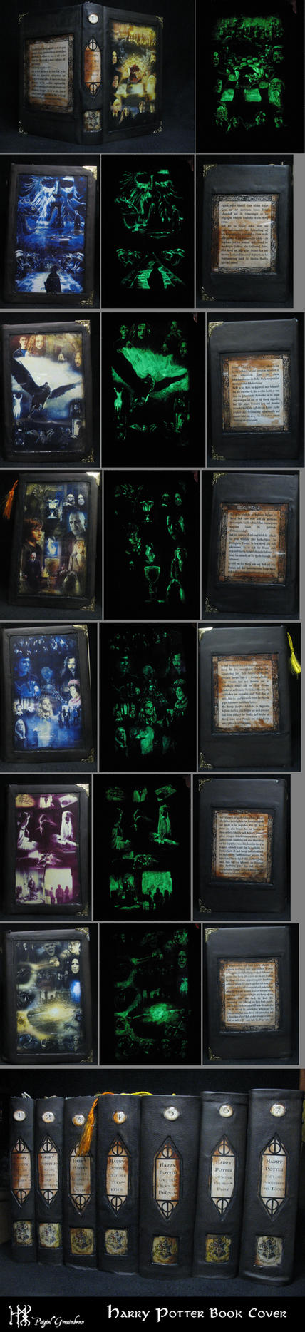 New Harry Potter Book Covers Glow In The Dark : Harry potter book covers by pgwainbenn on deviantart