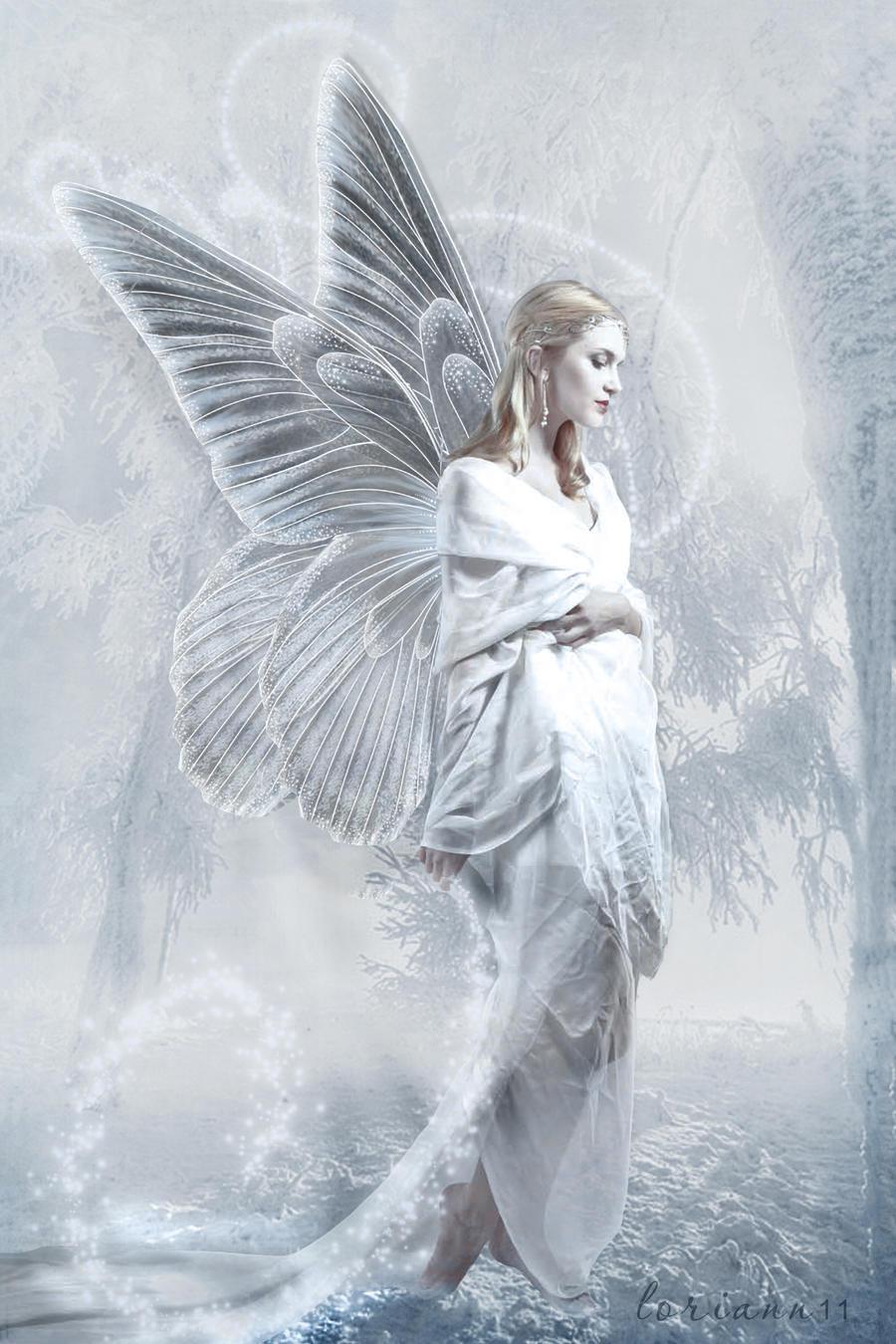 Snow fairy by imthinkingoutloud on deviantart