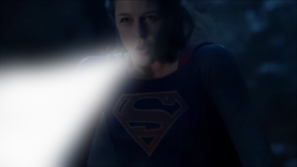 Supergirl in the eve of blowing a hurricane by Superbreath