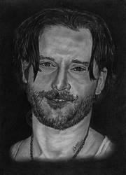 Portrait Drawing of Joe Manganiello - Alcide by MickeyTheSaviour