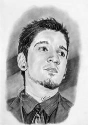 Portrait Drawing of Ian by MickeyTheSaviour