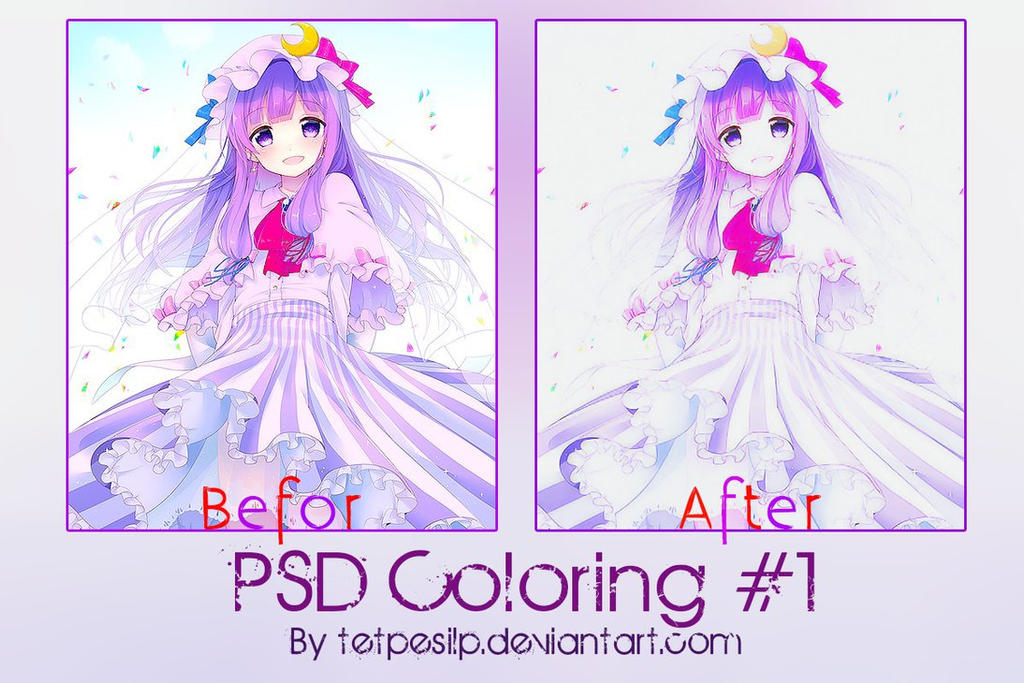 Psd Coloring #1 by Tetpesilp