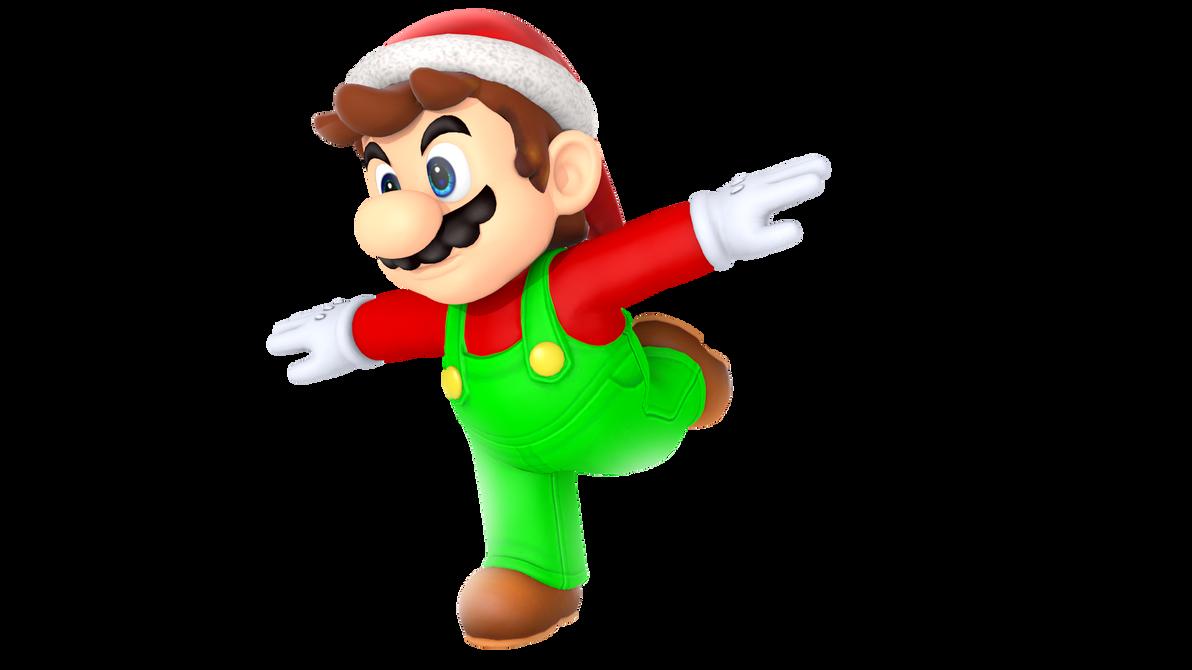 Christmas Mario Png.Christmas 2016 Mario By Shadowluigi Ng On Deviantart