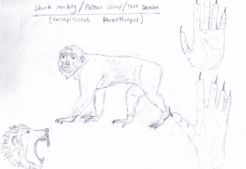 Lost World Reborn: Carnopithecus paranthropus by DesOrages