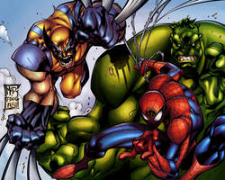 Marvel Heroes by alexsollazzo