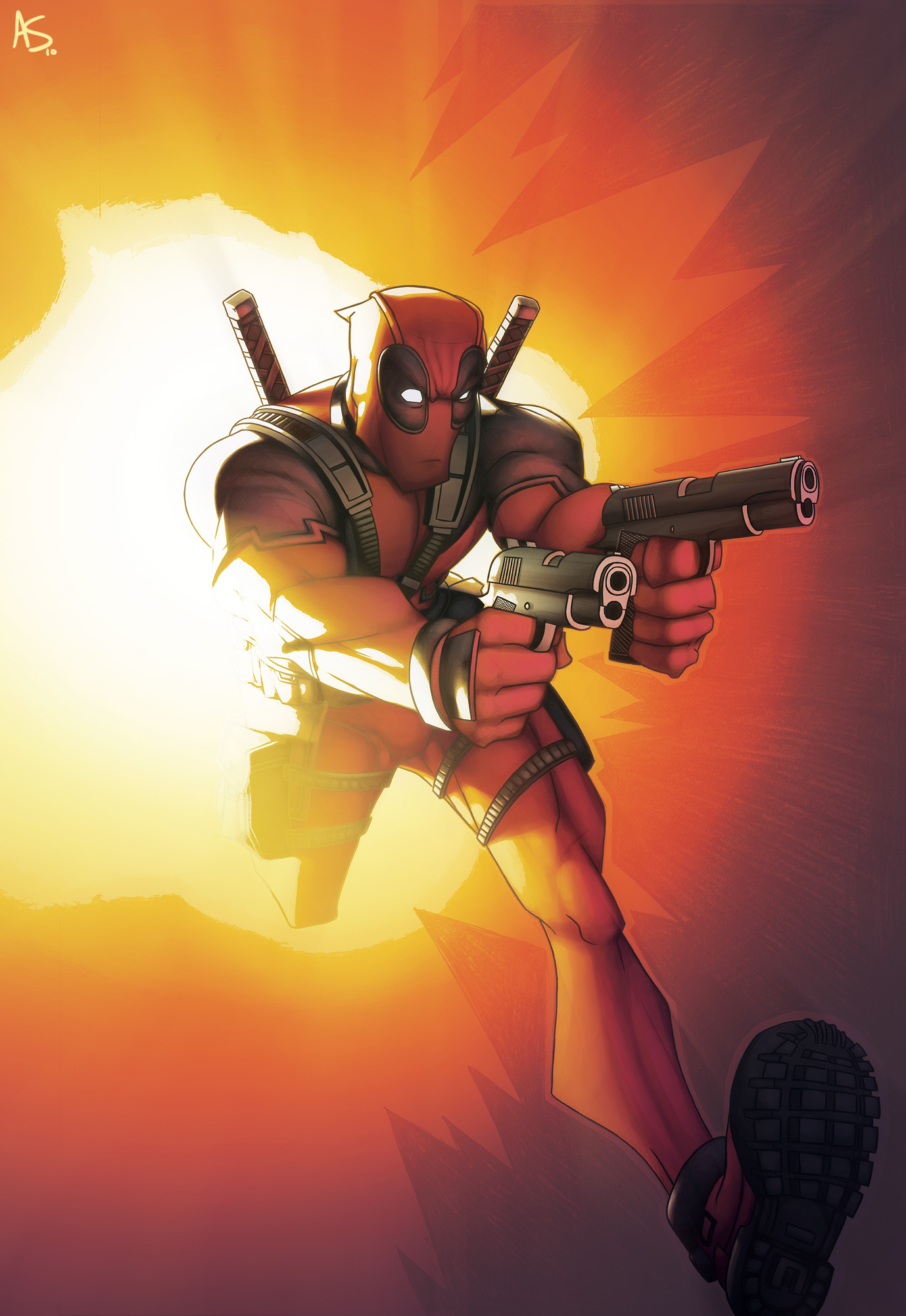 Deadpool Cover 2 by alexsollazzo