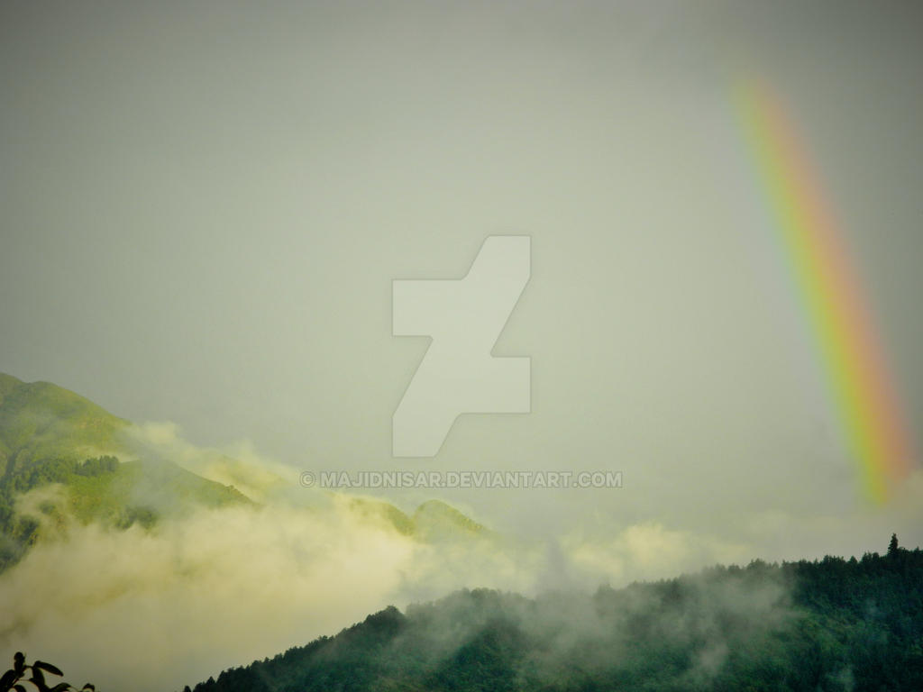 Spread of the Rainbow After the Rain and Flood by majidnisar