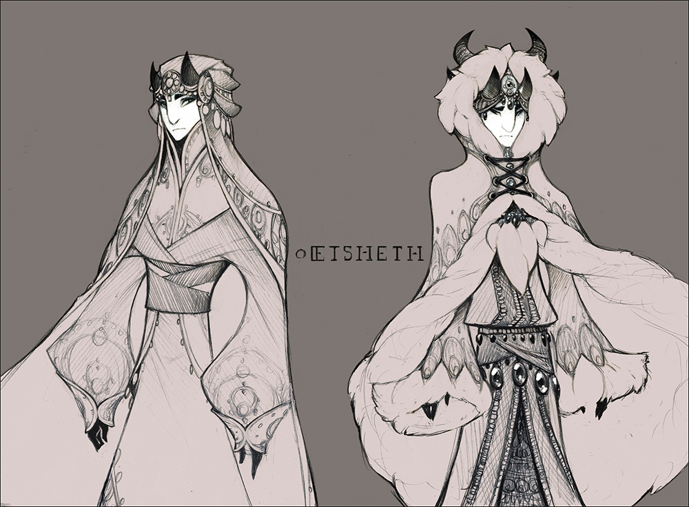 Demons and Other Ilk: Eisheth Formal by gentlemandeerlord