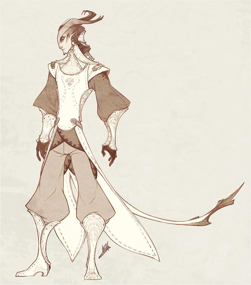 Demons and Other Ilk: Tierran Duelist Uniform by gentlemandeerlord