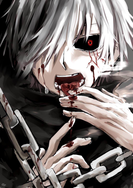 Kaneki tokyo ghoul by ebifuu on deviantart for Imagenes de anime gore