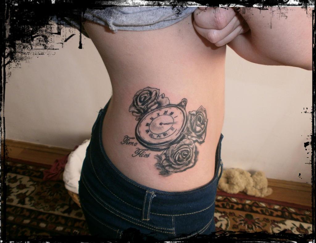 Pocket Watch Owl Tattoo Brasov pocket watch tattoo