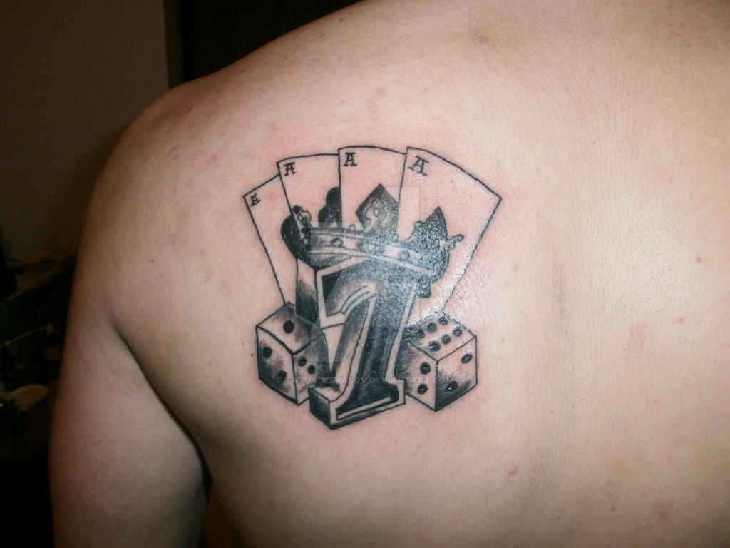 Dice Seven Tattoo Designs
