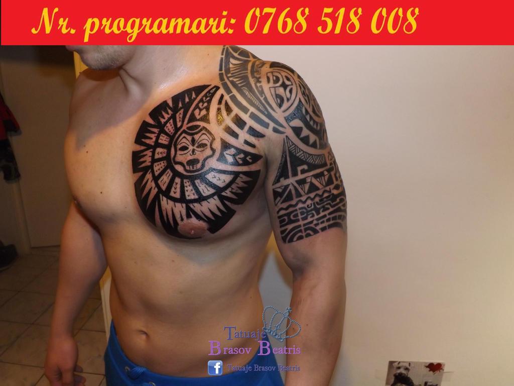 The rock tattoo template