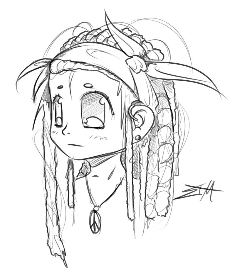 Dreadlocks Coloring Pages