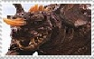 Baragon Stamp by Miss-DNL