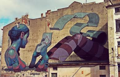 Graffiti by Aryz by paran0idx