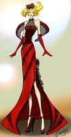 Red Dress Illustration