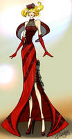 Red Dress Illustration by SketchDrayton
