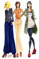Fall Girls by SketchDrayton