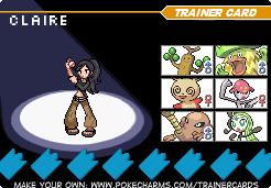 Claire's Pokemon Team by eshonen