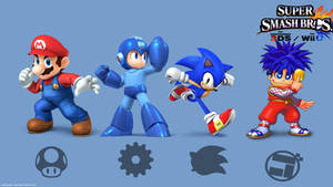 Super Smash Bros 4 Mascots by Rokku-D