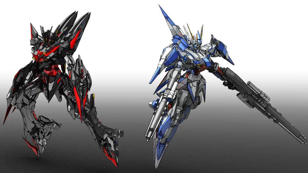 Gundam Uranus + Gundam Alexia by masarebelth