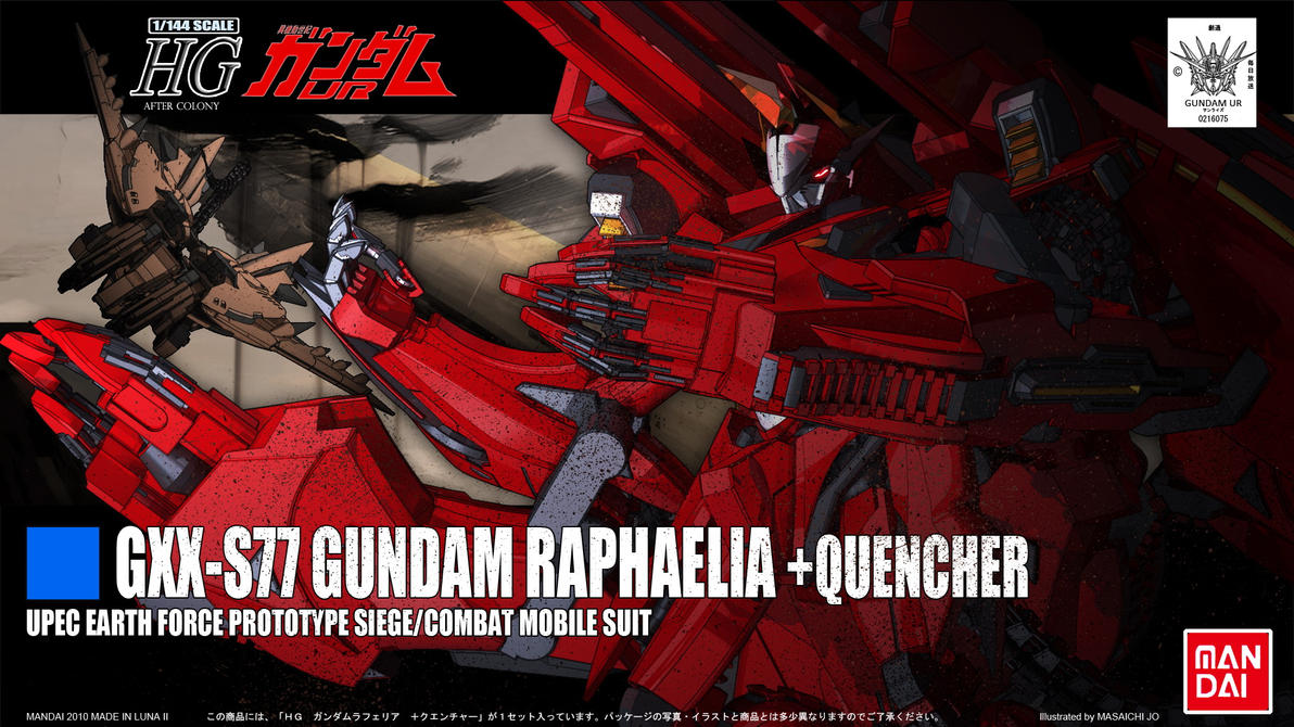 HG REVAMP 6OF6 GUNDAM RAPHAELIA+QUENCHER by masarebelth