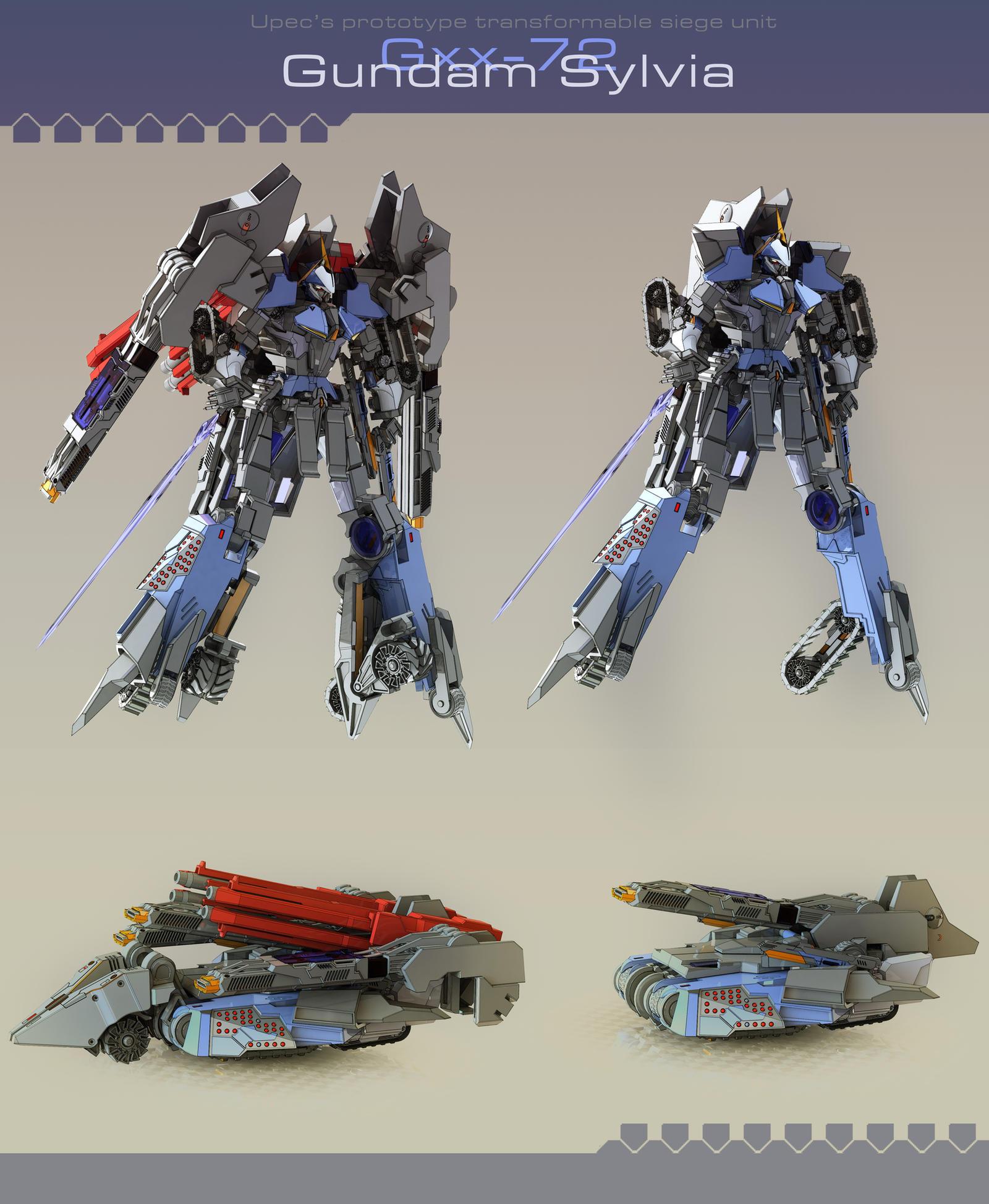 Gundam Sylvia by masarebelth