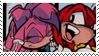 Knuckles x Julie-Su Stamp by neoncat