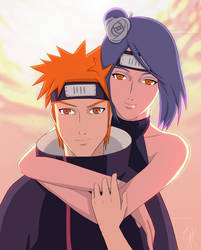 Yahiko and Konan by goldtale