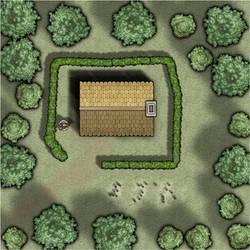 Wald Lichtung Haus