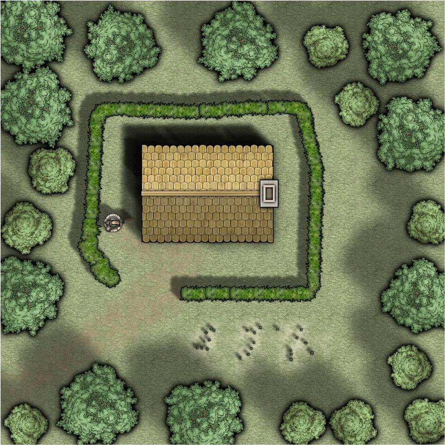 Wald Lichtung Haus by Vastin