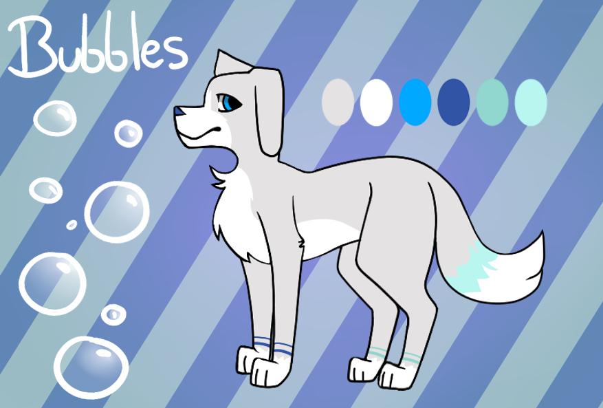 Bubbles ref sheet by BlueJubbles