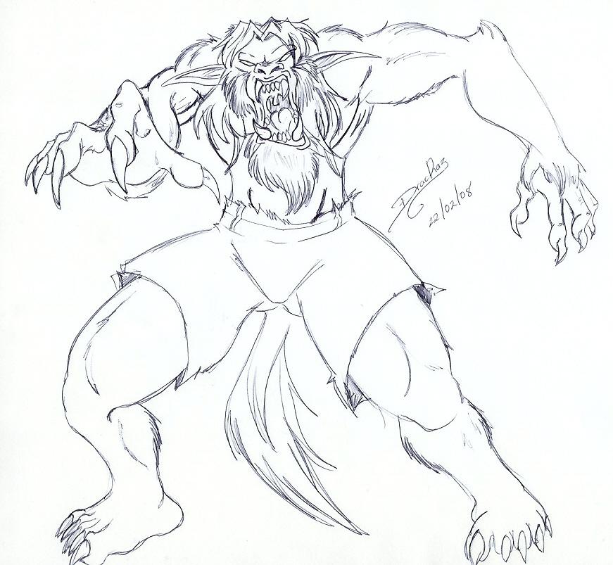 Hombre Lobo by DracRaz on DeviantArt