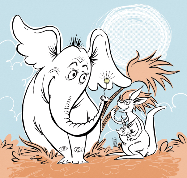 Horton hears a who by liliesformary on deviantart for Dr seuss coloring pages horton hears a who