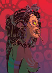 Sugar Skull Orc by liliesformary